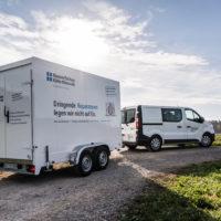 Kühlwagen im Einsatz bei HauserTschan Kälte Klima AG