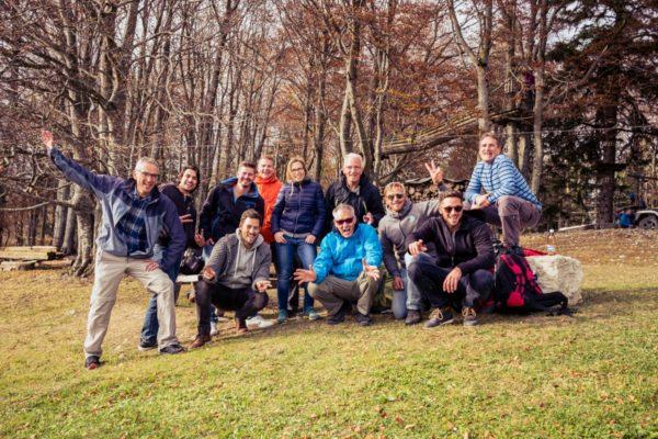 Teamfoto im Seilpark Balmberg