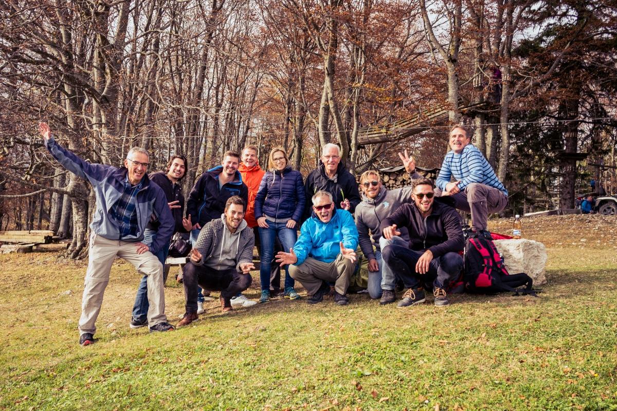 Team im Seilpark Balmberg