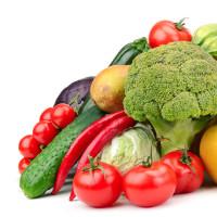 Foto: Stillleben mit Gemüse und Früchten